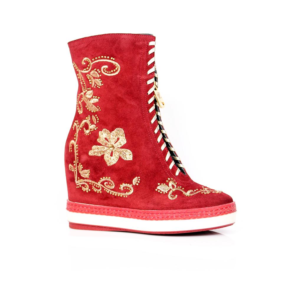Дамски спортни обувки естествен велур - 1