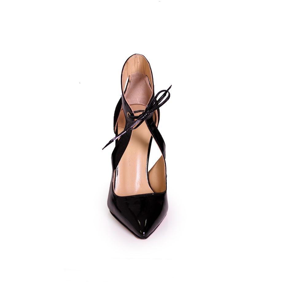 Дамски елегантни обувки от естествена кожа и велур - 5
