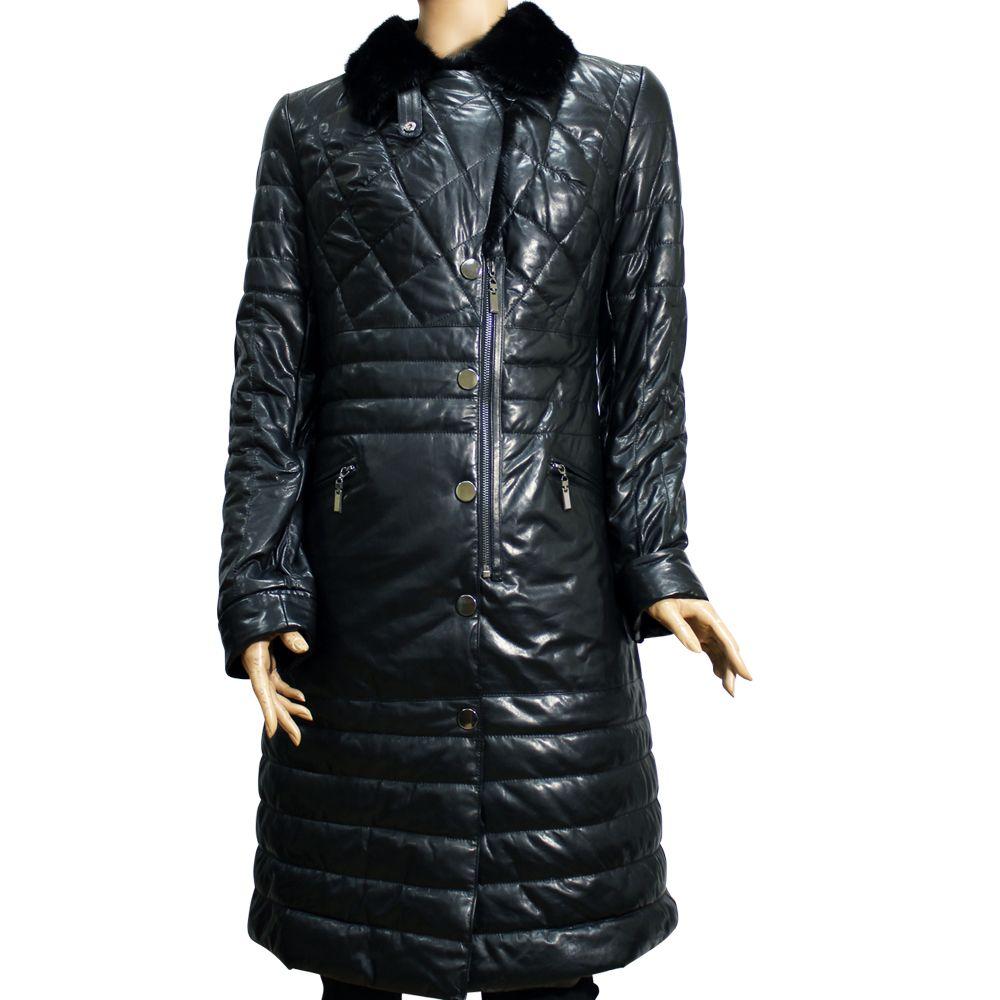 Дамско кожено палто от естествена кожа - 1