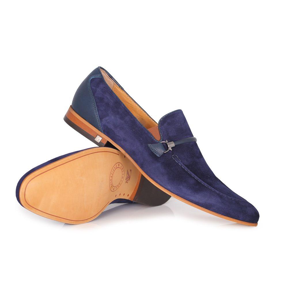 Мъжки обувки естествен набук и кожа - 2