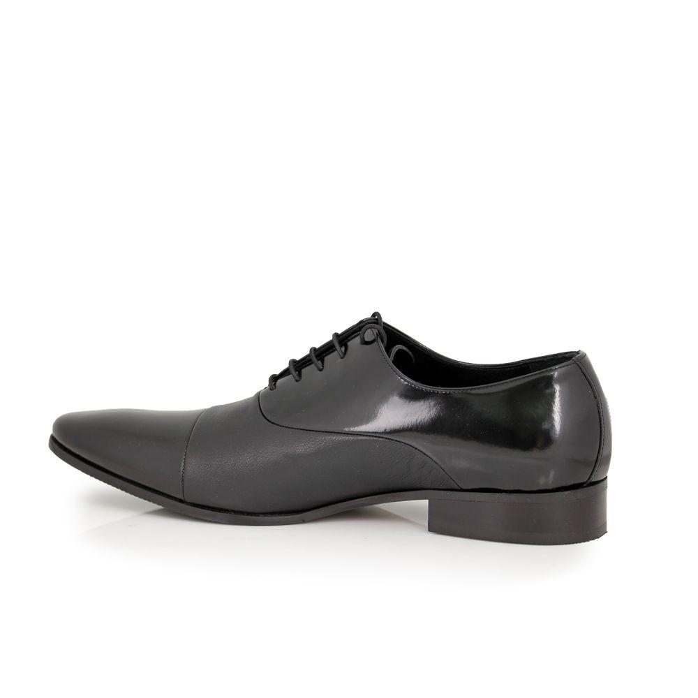 Мъжки официални обувки естествен лак и кожа - 2