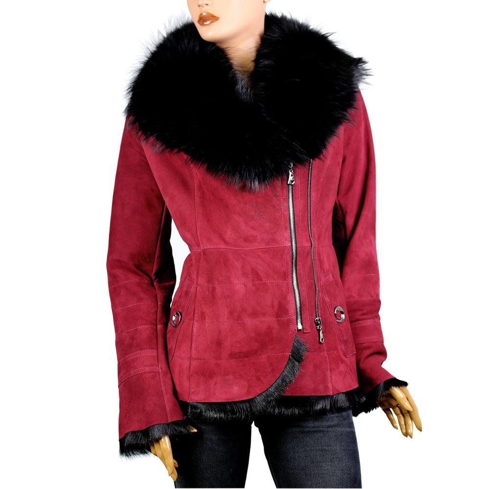 Дамско палто от естествен велур  - 1