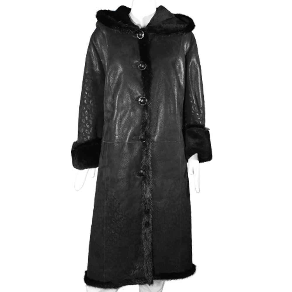 Дамско палто от естествена кожа - 1