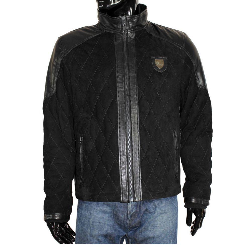Мъжко яке от естествена велур - 1