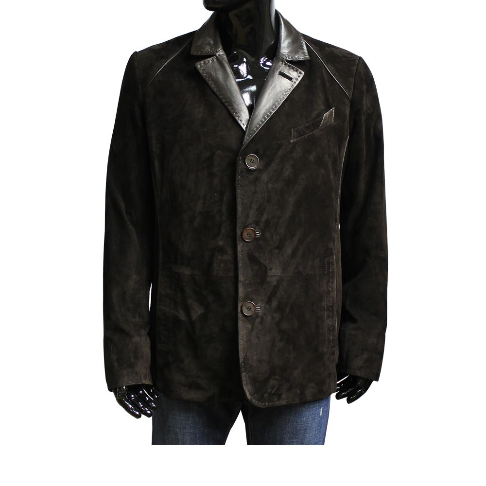 Мъжко яке от естествен велур - 1