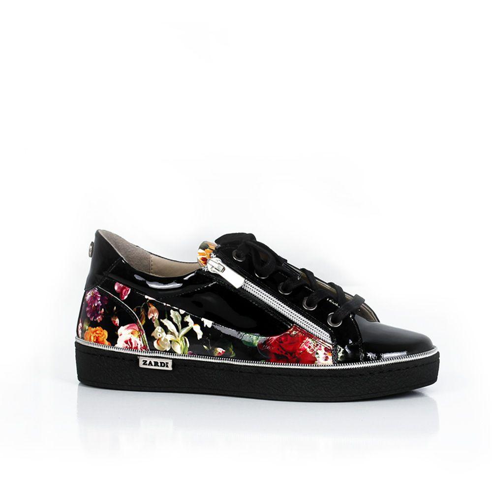 Дамски спортни обувки естествен лак - 1
