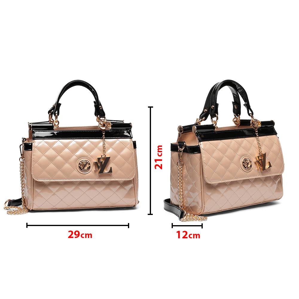 Дамска чанта от еко лак YZ-4556 - 5