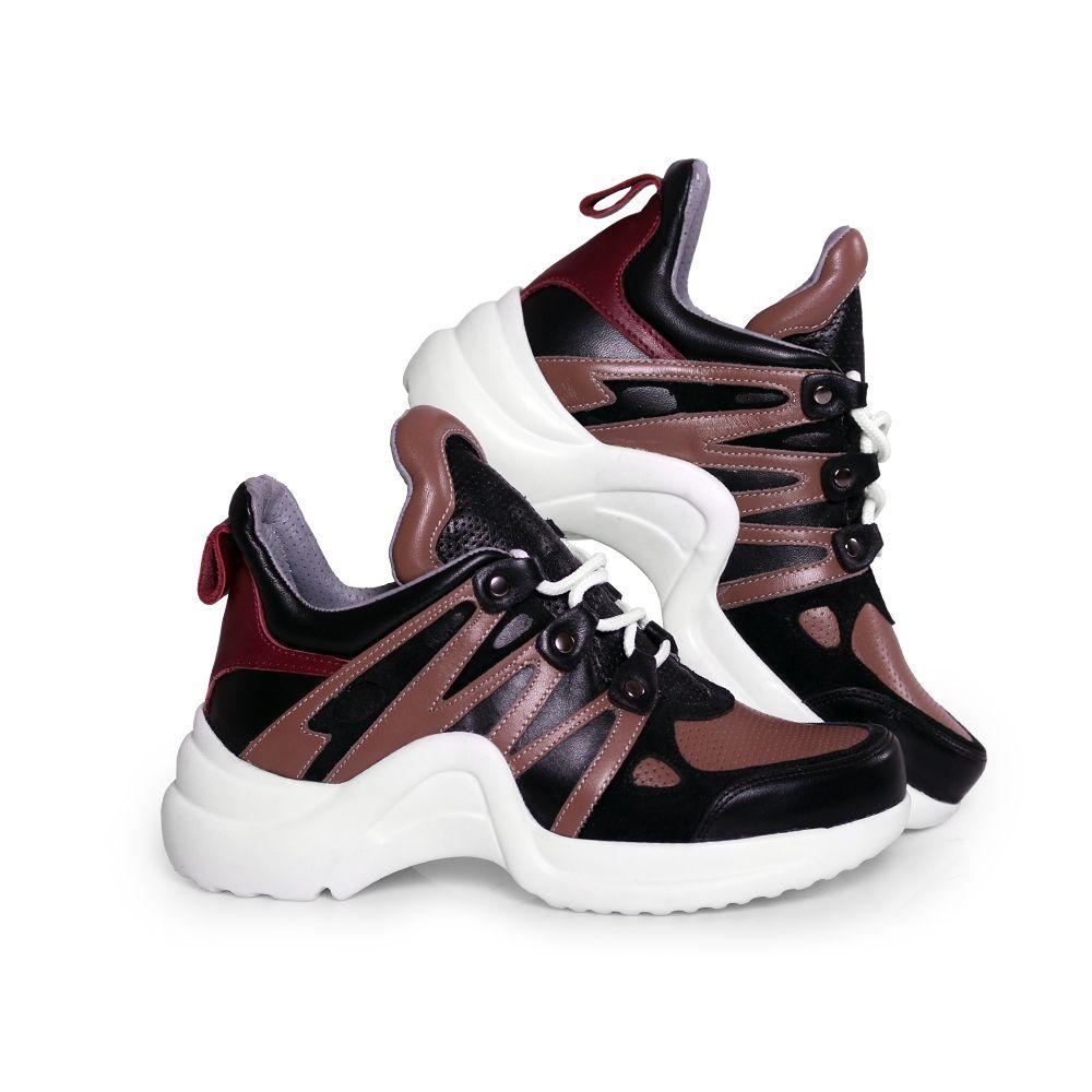 Дамски спортни обувки от естествена кожа SPT-583-210 - 2