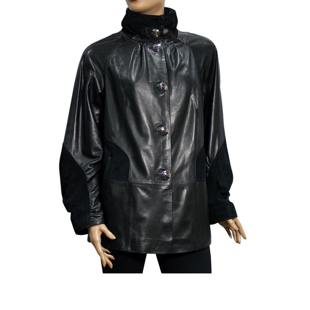 Дамско яке от естествена кожа - 1