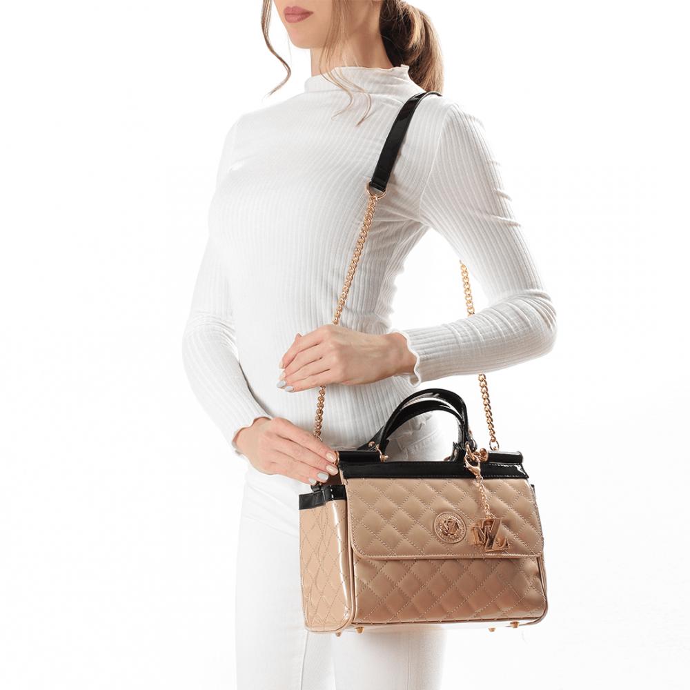 Дамска чанта от еко лак YZ-4556 - 2