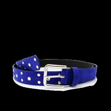 Дамски колан от еко велур в син цвят LD-3171