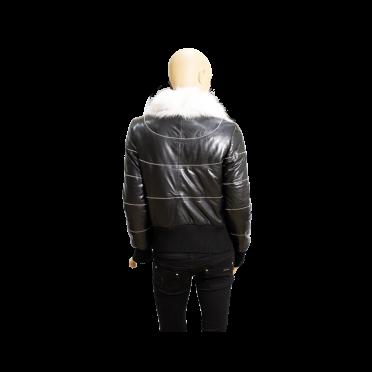 Дамско кожено яке от естествена кожа в черен цвят MF-5968