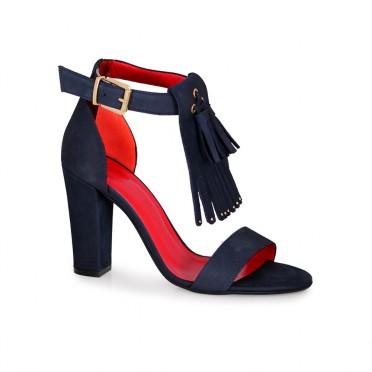 Дамски сандали от естествен набук
