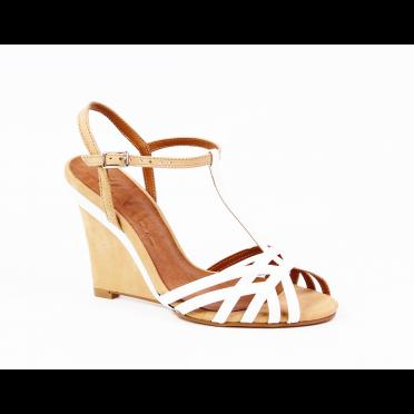 Дамски сандали от естествен лак