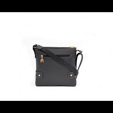 Дамска чанта естествена и еко кожа в черен цвят CV-111-88