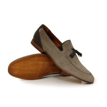 мъжки обувки от естествен велур