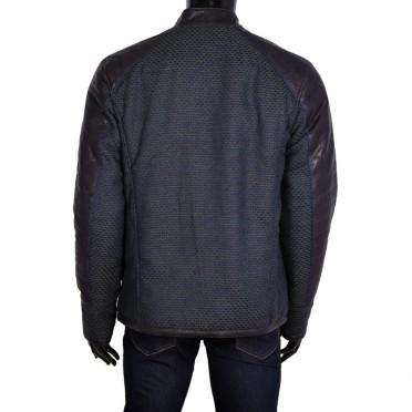 Мъжко яке от текстил и естествена кожа