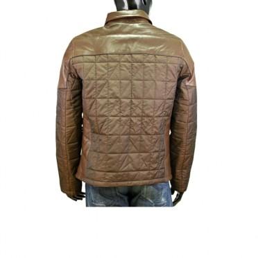 Мъжко яке от текстил и кожа