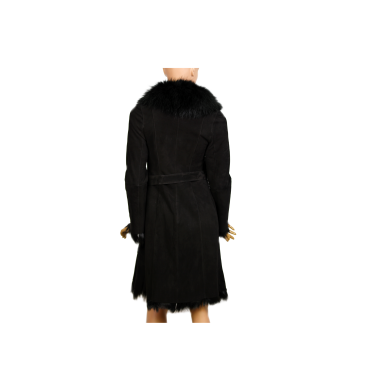 Дамско палто от естествен велур