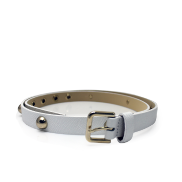 Дамски колан от естествена кожа в бял цвят LD-7633