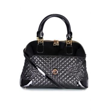 Дамска чанта от естествена кожа и лак