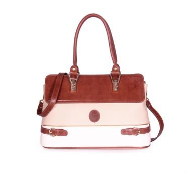 амска чанта от естествена и еко кожа
