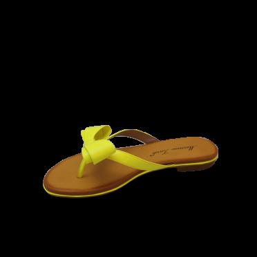 Дамски чехли естествен жълт лак
