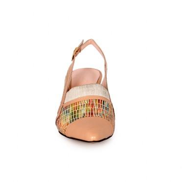 Дамски обувки от естествен лак и кожа