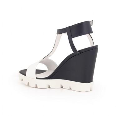Дамски сандали естествена кожа с платформа