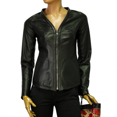 Дамско двулицево яке от естествена кожа