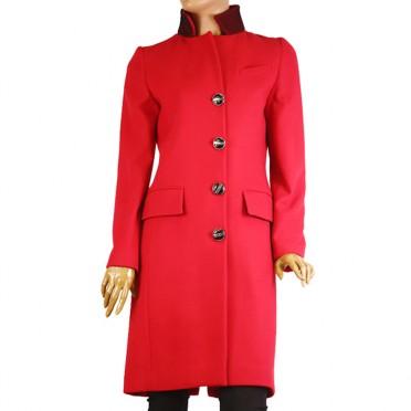 Дамско палто от кашмир и вълна