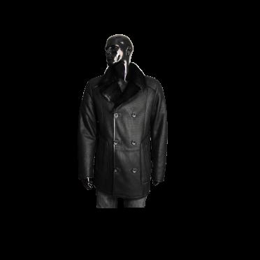 Мъжко яке от естествена кожа  K-502 Черен