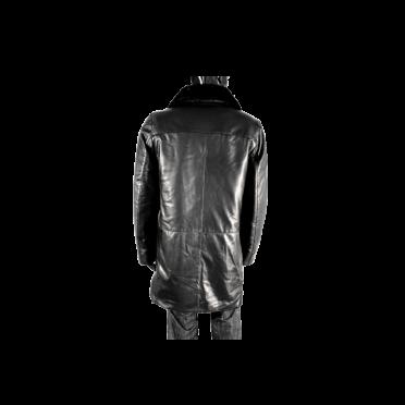 Мъжки якета от естествена кожа в черен цвят PM-95050