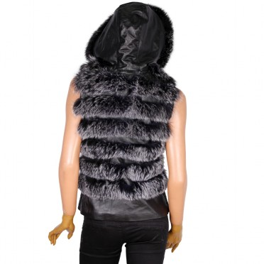 Дамски елек от естествена кожа