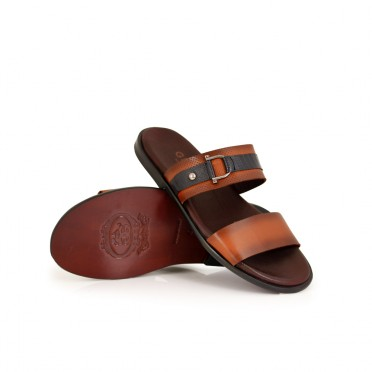 Мъжки чехли от естествена кожа GN-309