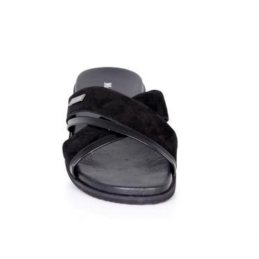 Мъжки чехли от естествен велур