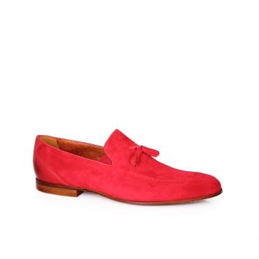 Мъжки обувки от естествен велур и кожа