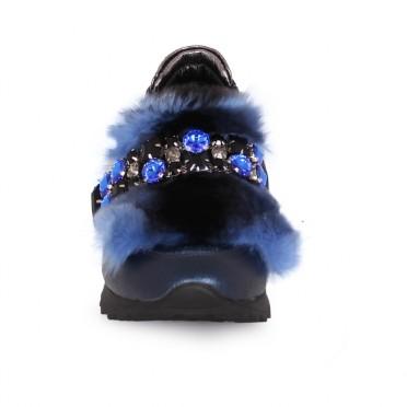 Дамски спортни обувки от естествена кожа