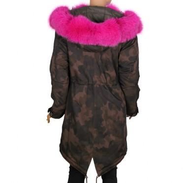 Дамско яке от промазан текстил с норвежка лисица
