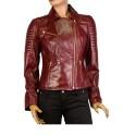 Дамско яке от естествена кожа MF-1331