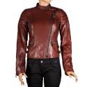 Дамско яке от естествена кожа PM-2359