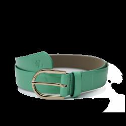 Дамски колан от еко лак в зелен цвят LD-772
