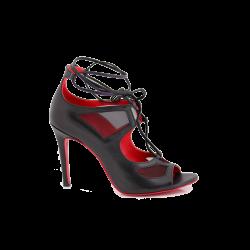 Дамски официални сандали от естествена кожа с връзки