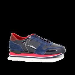 Мъжки спортни обувки син лак MRS-11475