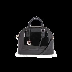 Дамска чанта от еко лак с кожа