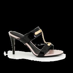 Дамски обувки от естесвен лак