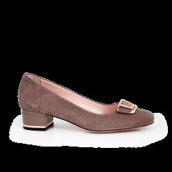 Дамски обувки от естествен щампован велур