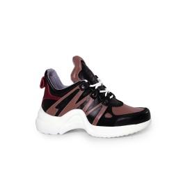 Дамски спортни обувки от естествена кожа SPT-583-210