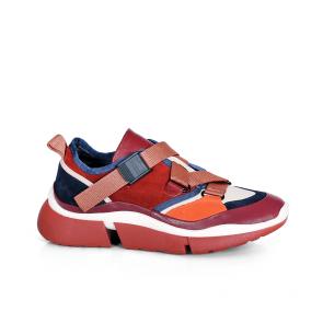 Дамски спортни обувки от естествена кожа и велур N55-01