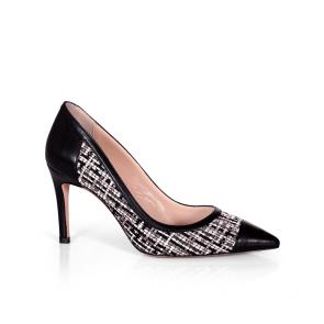 Дамски обувки от естествена кожа и текстил SY-25099